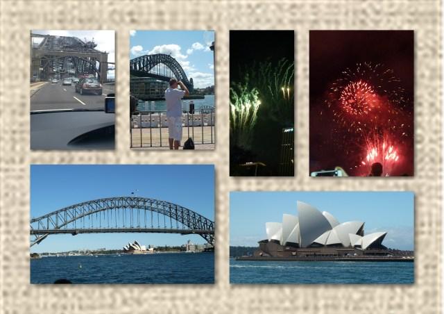 sydney harbour, harbour bridge, opera house, fireworks