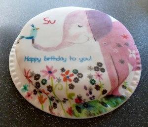 baker days, letterbox cake