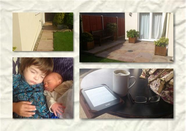 soosie wales, patio, grandchildren, coffee